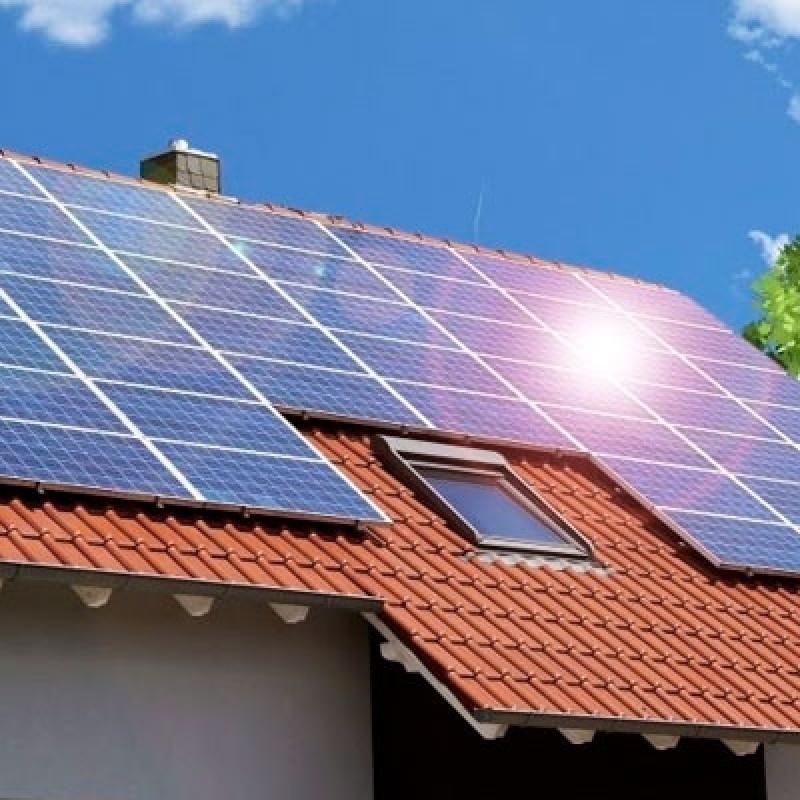 instalação energia solar residencial
