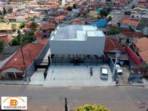 Energia solar no Centro de ibiuna